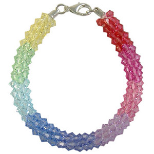 Pattern: Swarovski Pastel Rainbow Beaded Round Kumihimo Braid