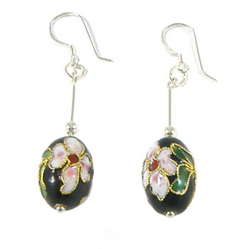 ​Black Cloisonne Earrings: Project Instructions
