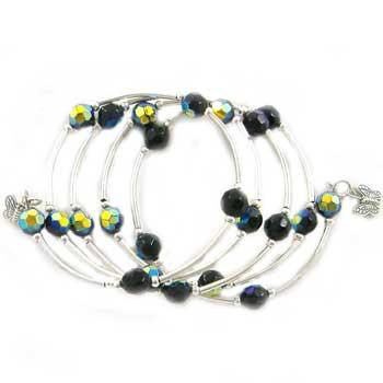 Black AB Memory Wire Bracelet: Project Instructions
