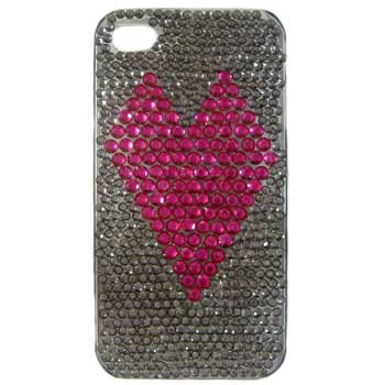 Pink Heart Diamante Phone Cover: Project Instructions