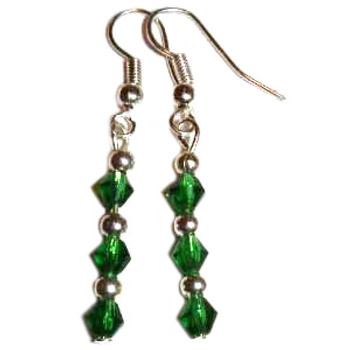 Green Crystal Earrings: Project Instructions