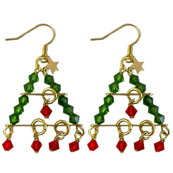 Swarovski Tiered Tree Earrings: Project Instructions
