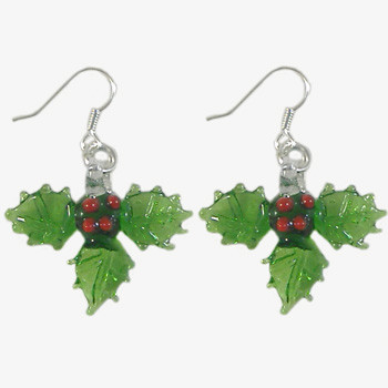 Christmas Holly Earrings: Project Instructions