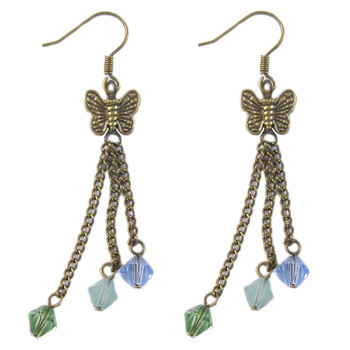 Bronze Crystal Butterfly Earrings: Project Instructions
