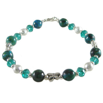 Simple Teal Bling Bracelet: Project Instructions