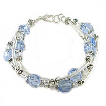 Light Blue 3 Strand Bracelet: Project Instructions