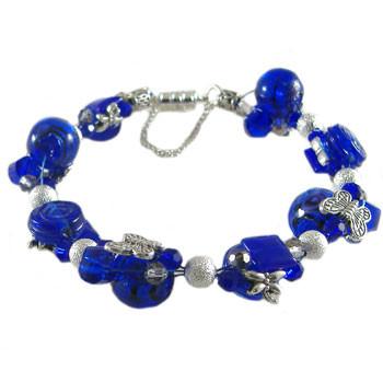 Dark Blue Twisted Tigertail Bracelet: Project Instructions