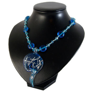 Blue Swirl Pendant Necklace: Project Instructions