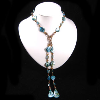 Long Blue Shell Necklace: Project Instructions