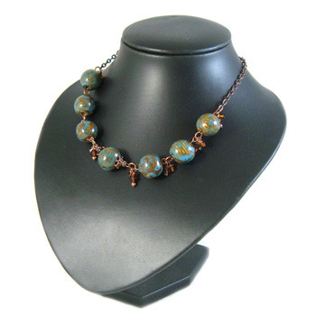 Blue/Brown Charm Necklace: Project Instructions