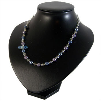Purple & Blue Glass Pearl Necklace: Project Instructions