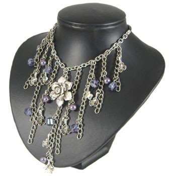 Purple Chain Drop Necklace: Project Instructions