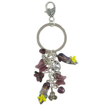 Rose Purple Key/Handbag Dangle: Project Instructions
