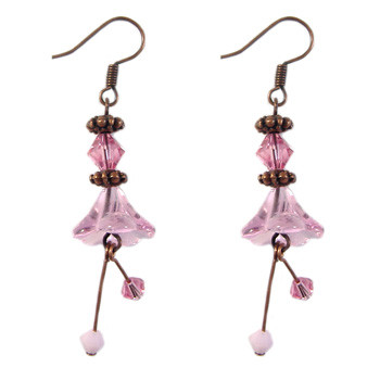 Pink Flower Earrings: Project Instructions