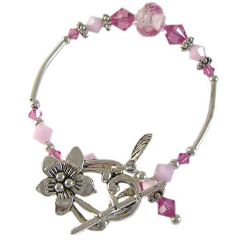 Swarovski Rose Flower Bracelet: Project Instructions