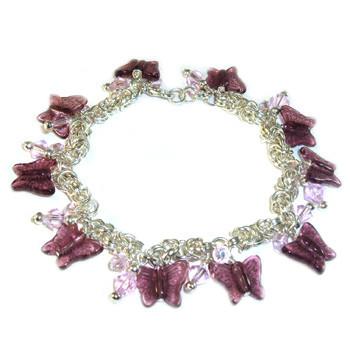 Pink Byzantine Charm Bracelet: Project Instructions