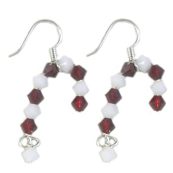 Swarovski Crystal Candy Cane Earrings: Project Instructions