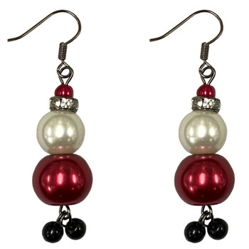 Glass Pearl Santa Earrings: Project Instructions