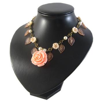 Vintage Rose & Leaf Necklace: Project Instructions