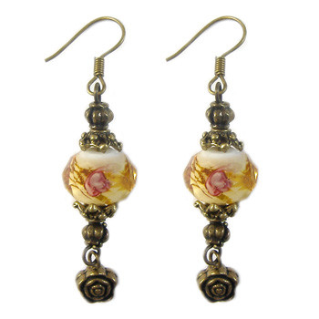 Amber Lampwork Earrings: Project Instructions