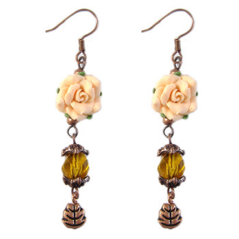 Copper Clay Flower Earrings: Project Instructions