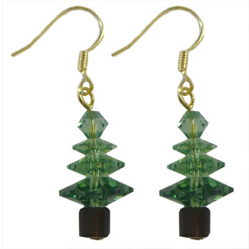 Erinite Swarovski Christmas Crystal Earrings: Project Instructions