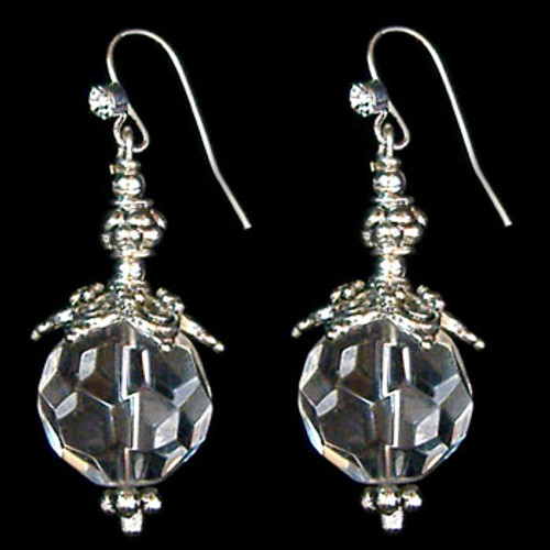 Silver Glass Crystal Earrings: Project Instructions