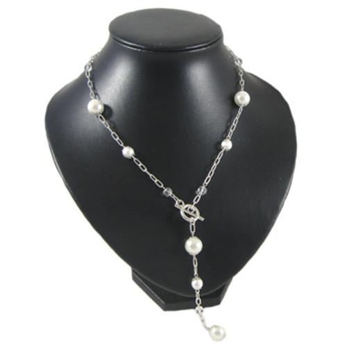 White/Silver Chain Necklace: Project Instructions