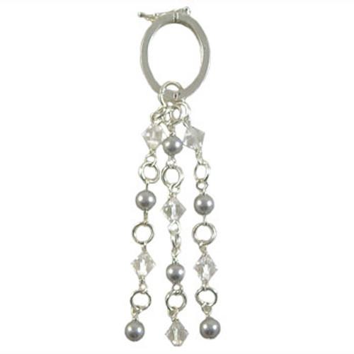 Silver Swarovski Scarf Jewellery: Project Instructions