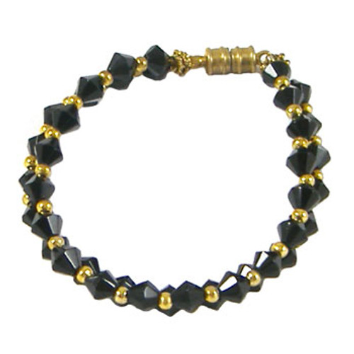 Black 2 Strand Bicone Bracelet: Project Instructions