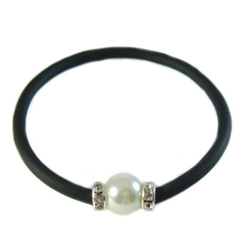 Simple Black Stretchy Elastic Bracelet: Project Instructions
