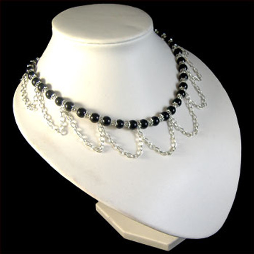 Black Chain Drop Necklace: Project Instructions