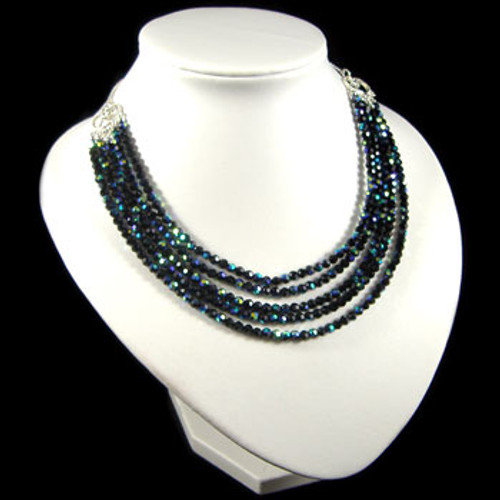 Multi Strand Black AB Crystal Necklace: Project Instructions