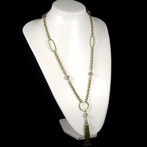 Grey Roman Tassel Necklace: Project Instructions