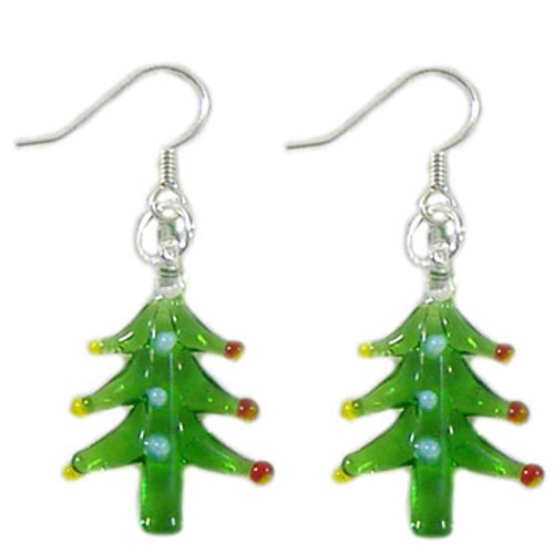 Glass Christmas Tree Earrings: Project Instructions