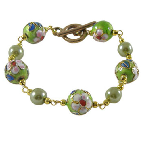 Green and Gold Chain Bracelet: Project Instructions