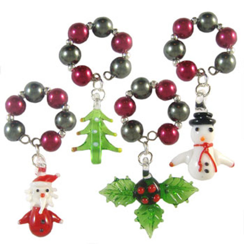 Christmas Wine Glass Charms: Project Instructions