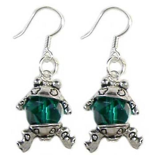 Green Frog Earrings: Project Instructions