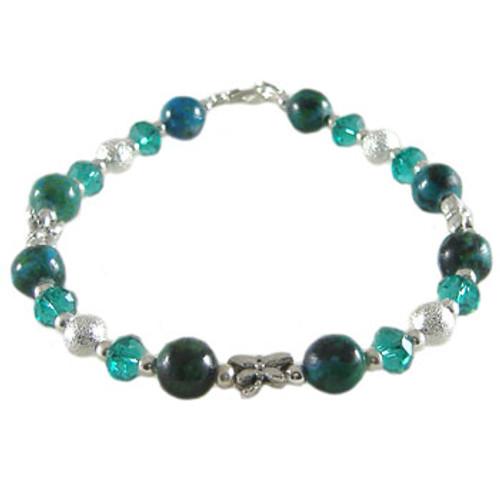 Simple Teal Bling Bracelet: Project Instructions