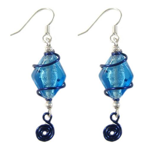 Blue Swirl Earrings: Project Instructions