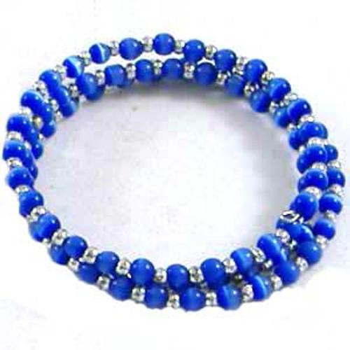 Blue Cats Eye Memory Wire Bracelet: Project Instructions