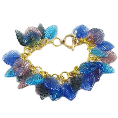 Blue/Purple Leaf Charm Bracelet: Project Instructions