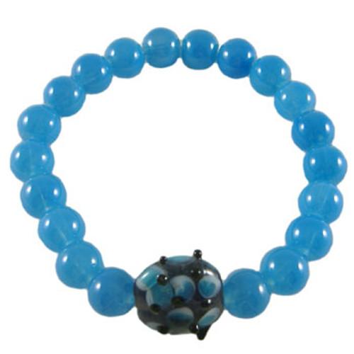 Simple Blue Stretchy Elastic Bracelet: Project Instructions