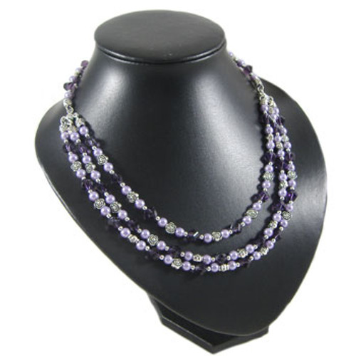 Purple Three Strand Necklace: Project Instructions