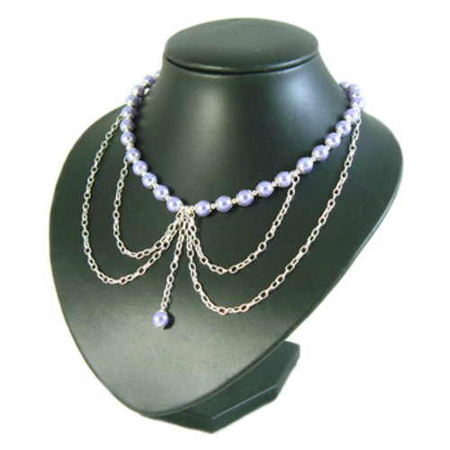 Lavender Gothic Chain Drop Necklace: Project Instructions