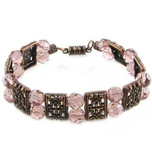 Rose Purple/Copper 2 Strand Bracelet: Project Instructions