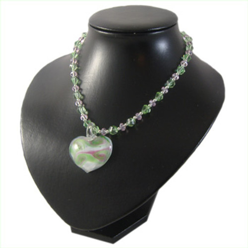 Green & Pink Heart Necklace: Project Instructions