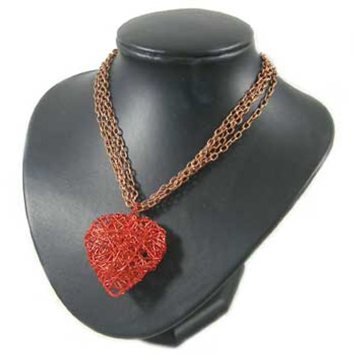 Red Heart Chain Necklace: Project Instructions