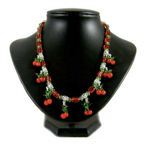 Christmas Cherry Necklace: Project Instructions