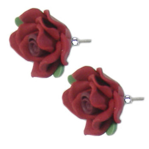 Red Flower Earrings: Project Instructions